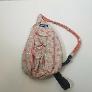 KAVU Womens Flamingo Rope Bag Backpack Sling Cross